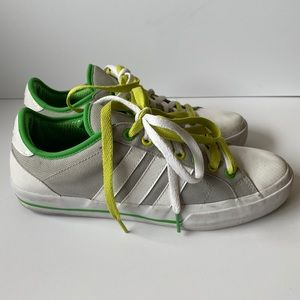 Adidas Men's Gray Sneakers with Green Trim size 9